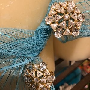 Jewelry - SPARKLY CLIP ON CRYSTAL EARRINGS